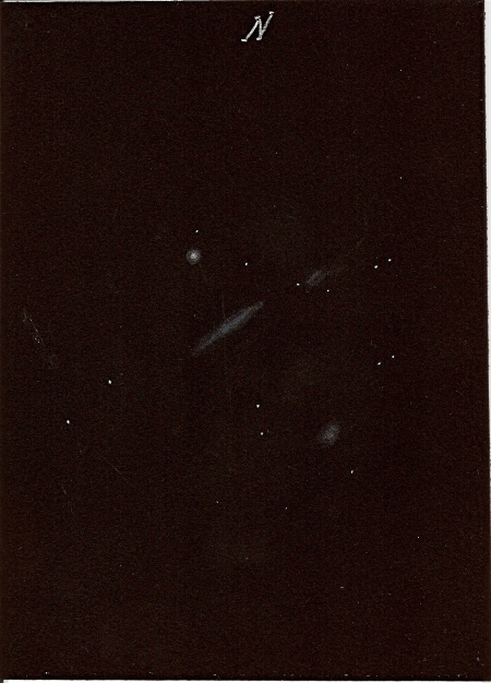 NGC 3190 Galaxy Cluster - 10-inch Reflector @ 114x