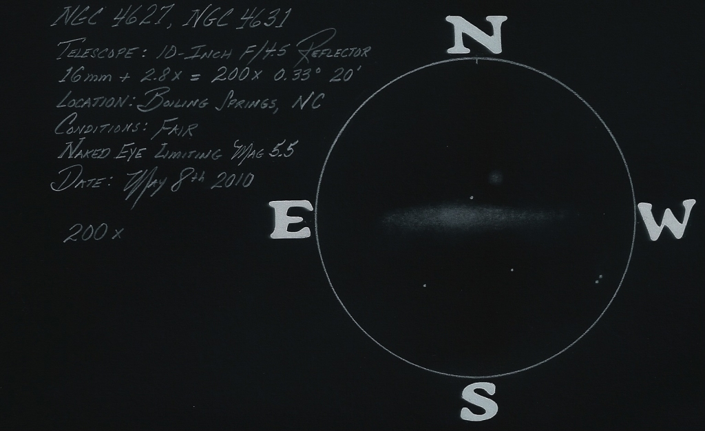NGC 4627-31 10-inch 200x