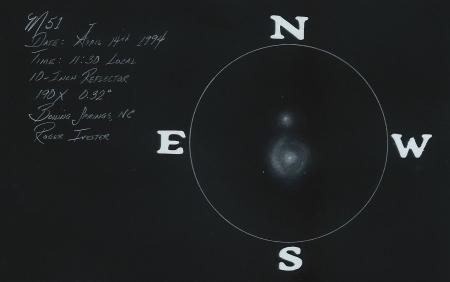 NGC 5194-5 10-Inch Reflector @ 190x