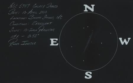 NGC 5907 10-Inch Reflector @ 114x