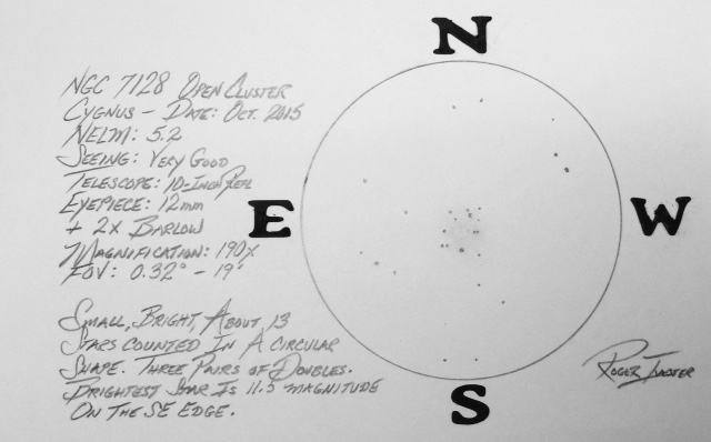 NGC 7128 - Open Cluster - Cygnus (1/4)