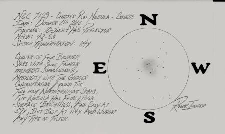 NGC 7129 Sketch