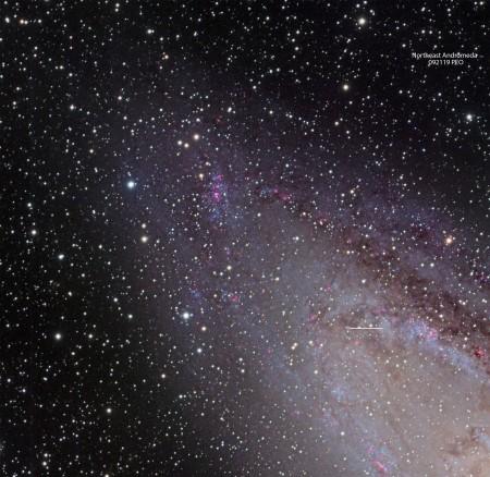 NE Andromeda PEO-Nova position